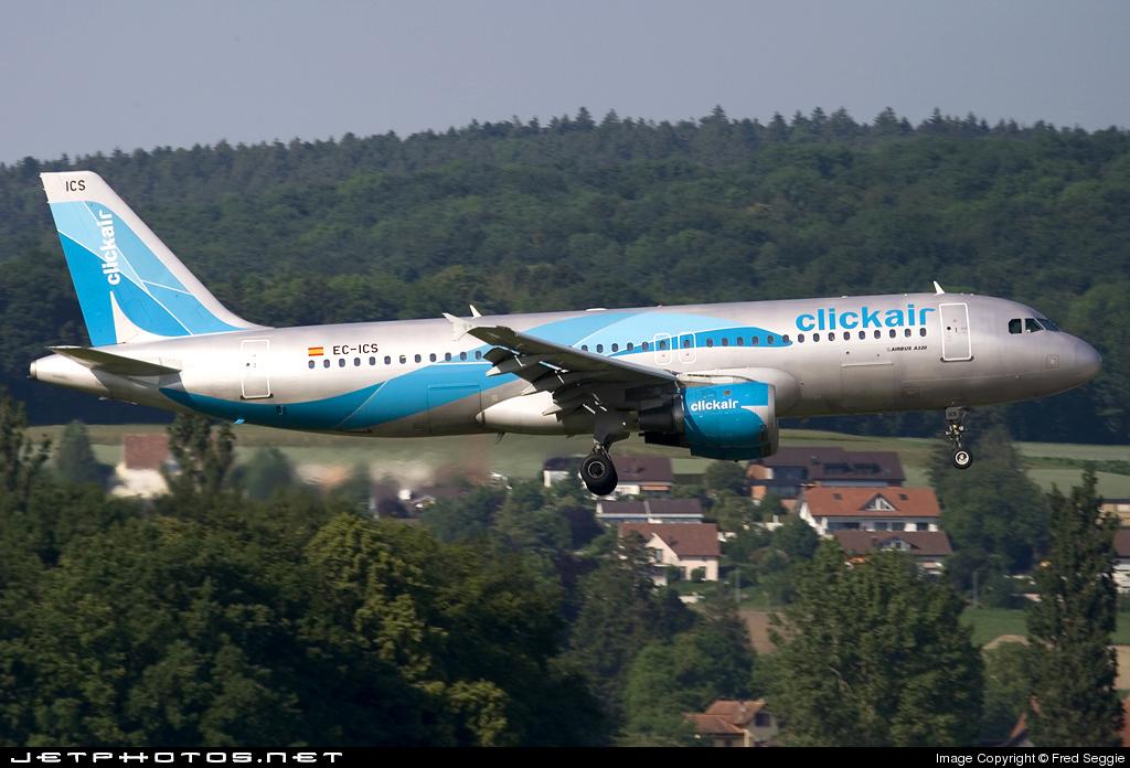 EC-ICS - Airbus A320-211 - Clickair