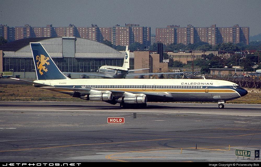 G-AXRS - Boeing 707-355C - Caledonian Airways