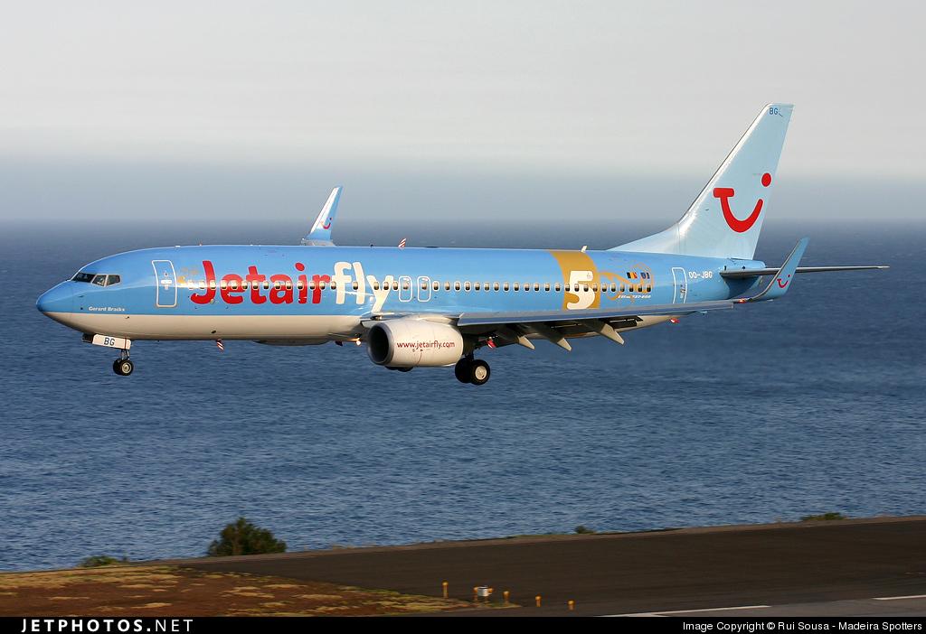 OO-JBG - Boeing 737-8K5 - Jetairfly