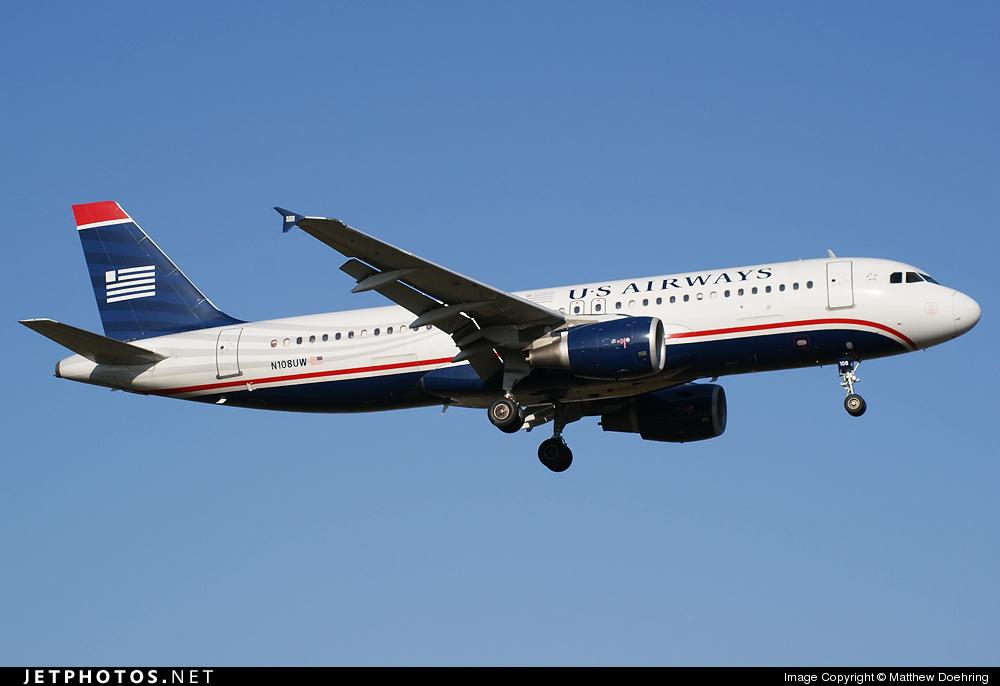 N108UW - Airbus A320-214 - US Airways