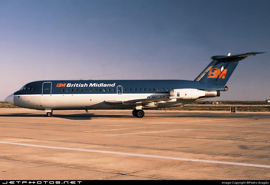 G-WLAD - British Aircraft Corporation BAC 1-11 Series 304AX - British Midland