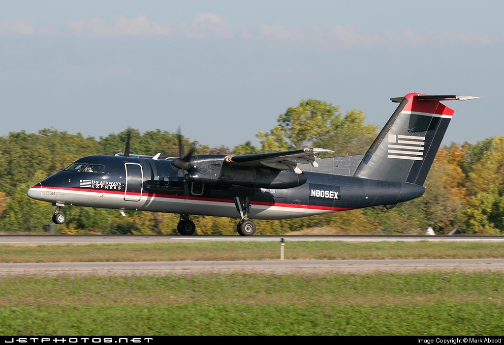 N805EX - Bombardier Dash 8-102 - US Airways Express (Piedmont Airlines)