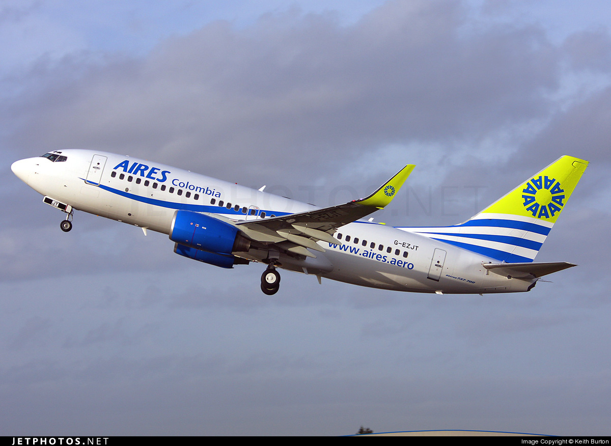 G-EZJT - Boeing 737-73V - Aires Colombia