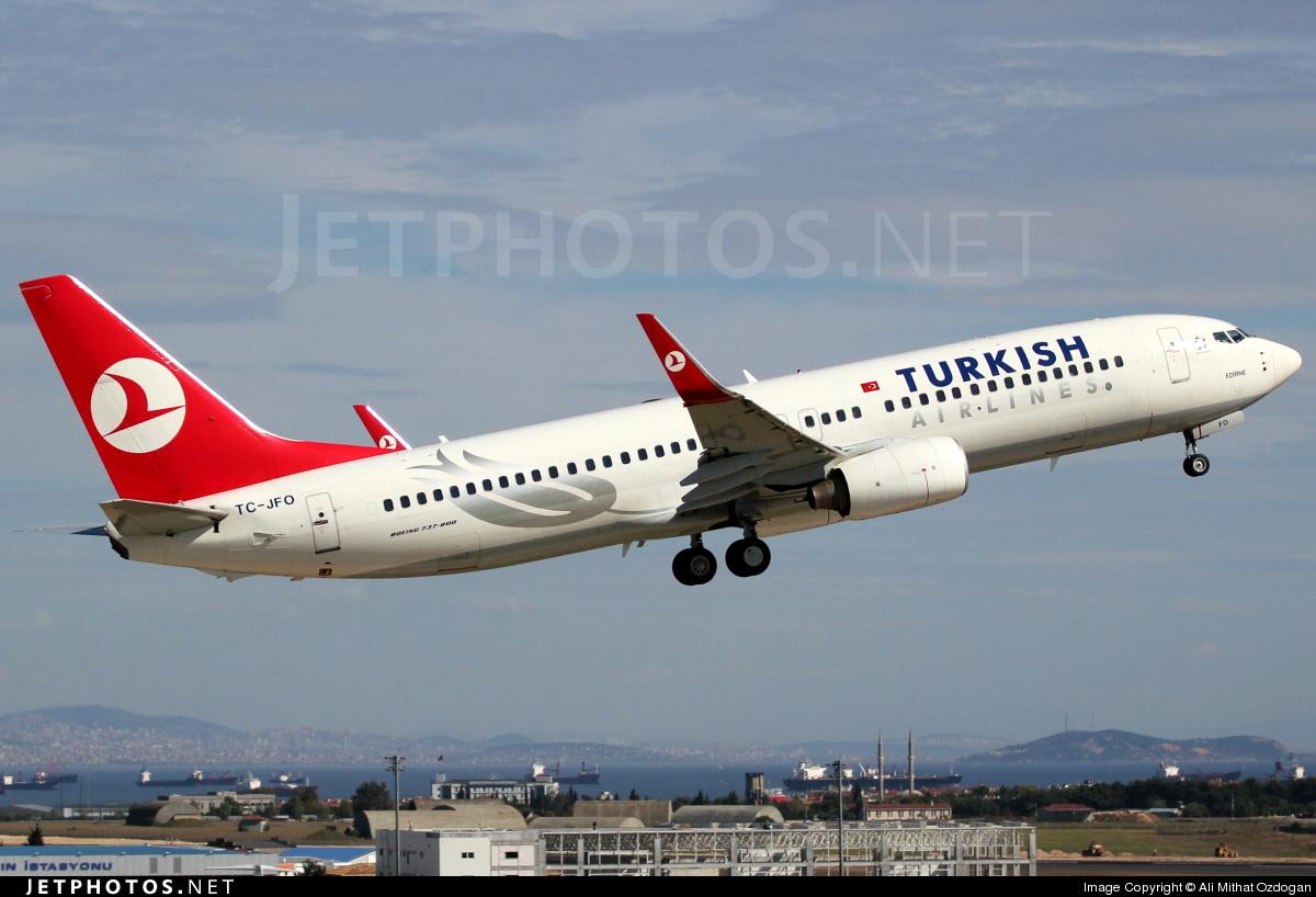 TC-JFO - Boeing 737-8F2 - Turkish Airlines