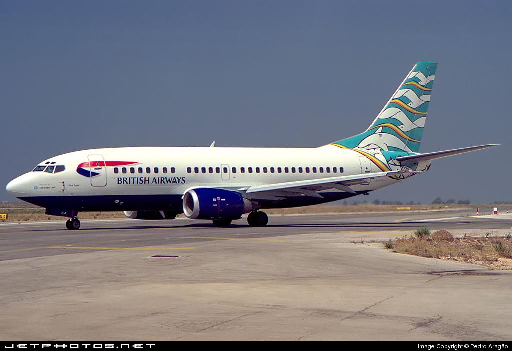 G-MSKA - Boeing 737-5L9 - British Airways (Maersk Air)