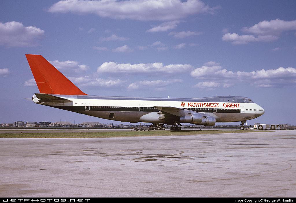 N607US - Boeing 747-151 - Northwest Orient Airlines