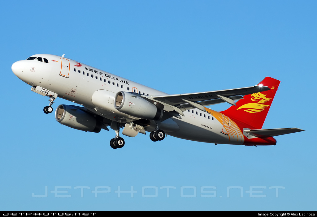 B-6192 - Airbus A319-132 - Deer Air
