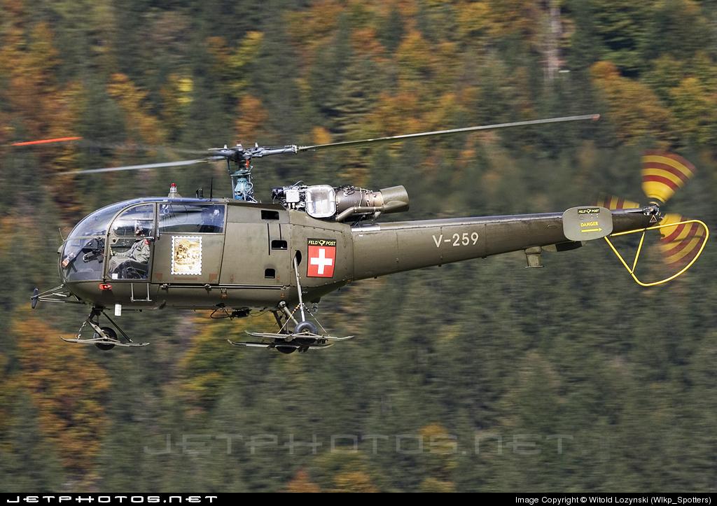 V-259 - Aérospatiale SA 316B Alouette III - Switzerland - Air Force