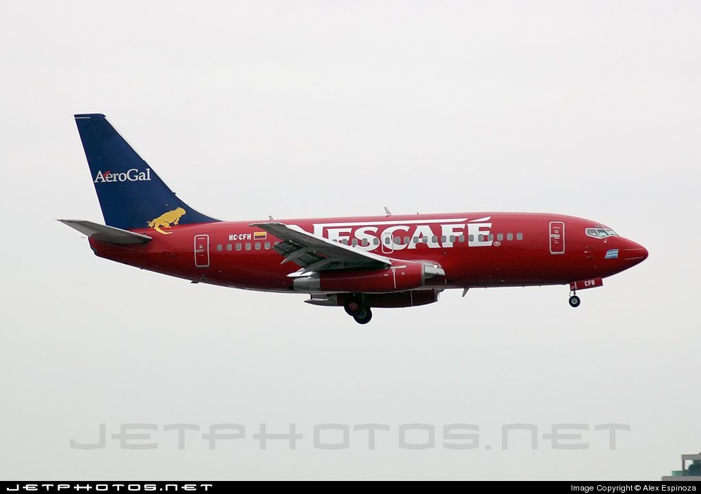 HC-CFH - Boeing 737-2T5(Adv) - AeroGal Aerolíneas Galápagos