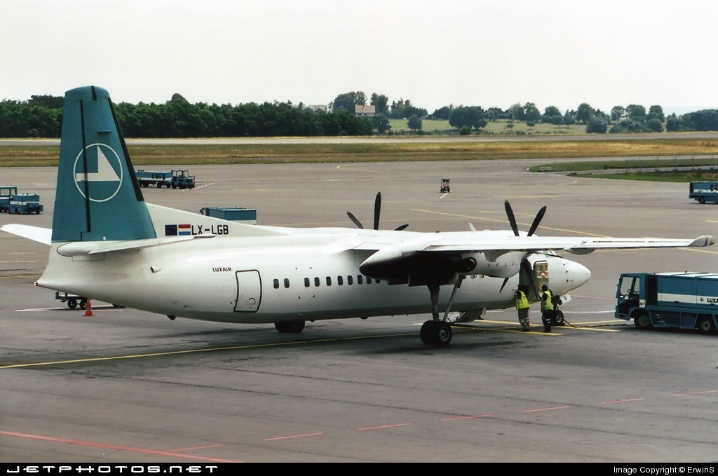 LX-LGB - Fokker 50 - Luxair - Luxembourg Airlines