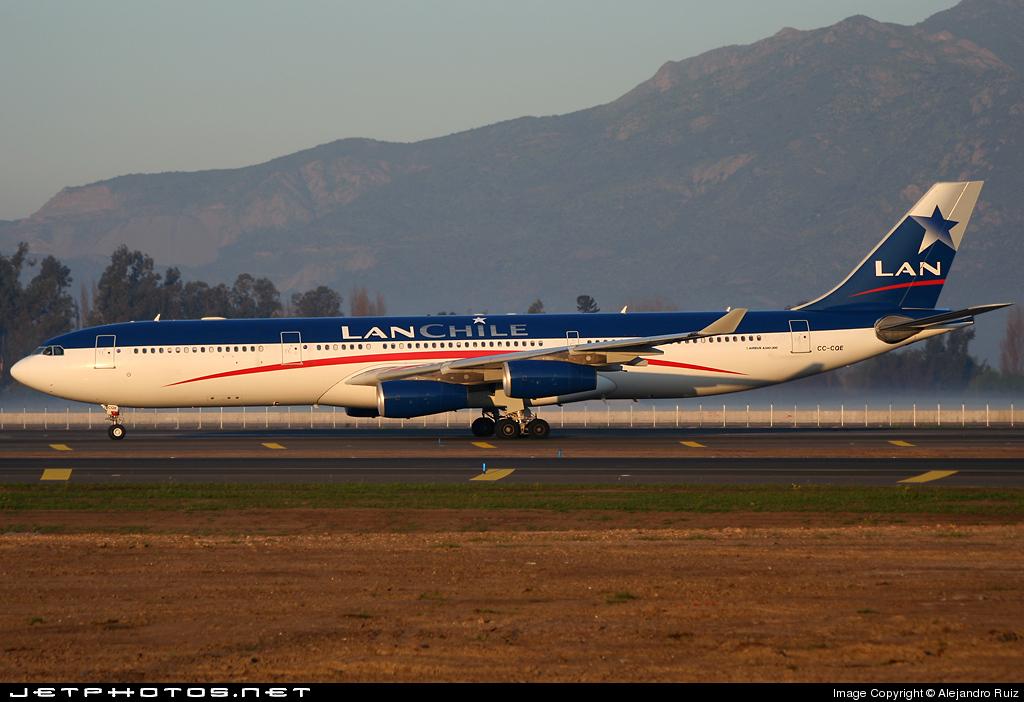 CC-CQE - Airbus A340-313X - Lan Chile