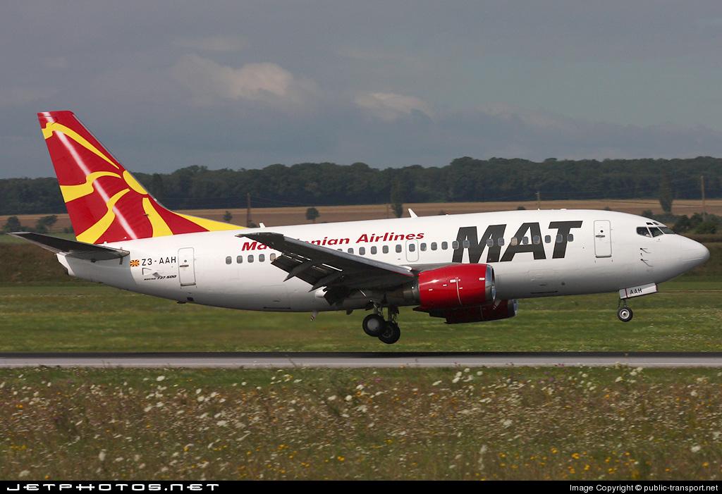 Z3-AAH - Boeing 737-529 - MAT Macedonian Airlines