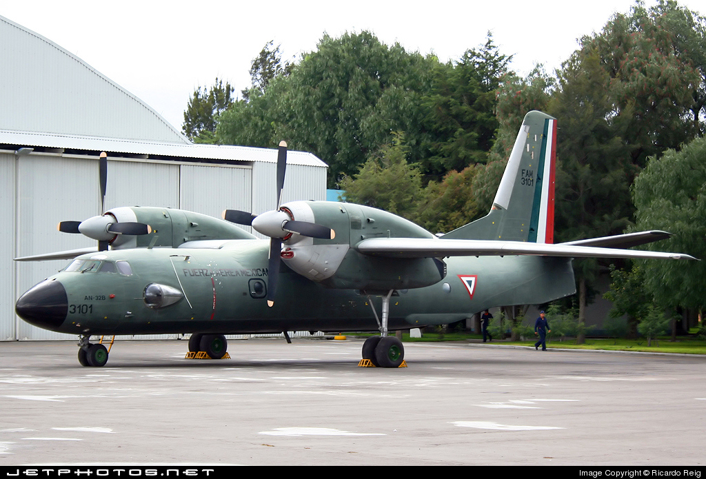3101 - Antonov An-32 - Mexico - Air Force