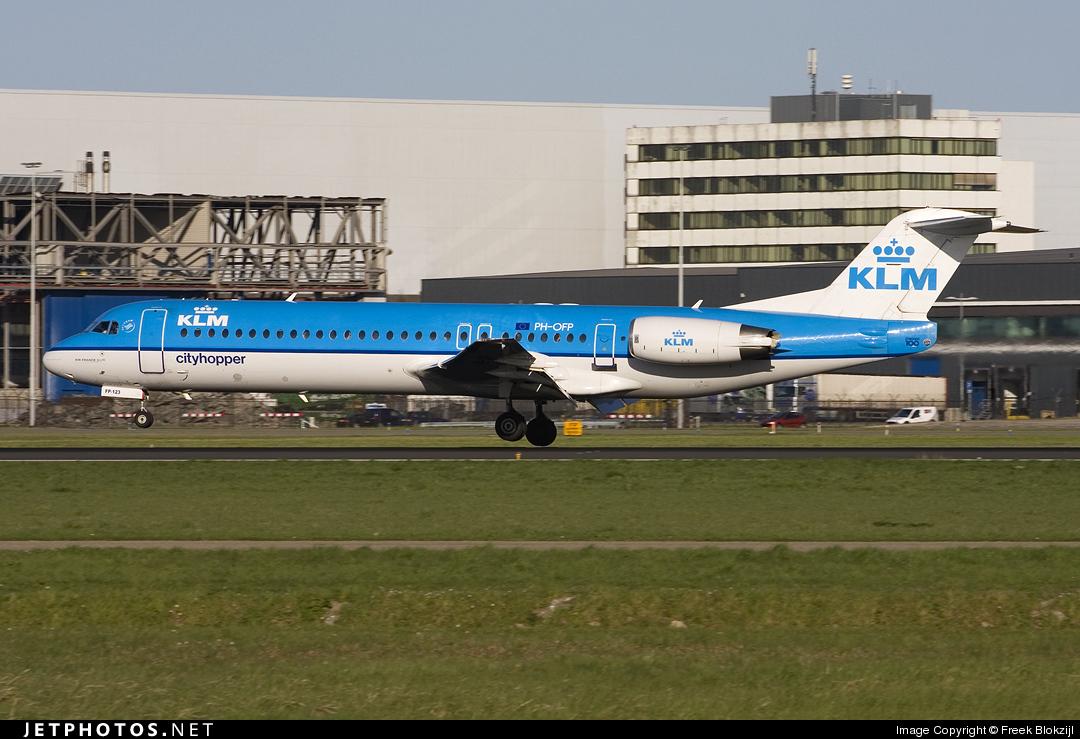 PH-OFP - Fokker 100 - KLM Cityhopper