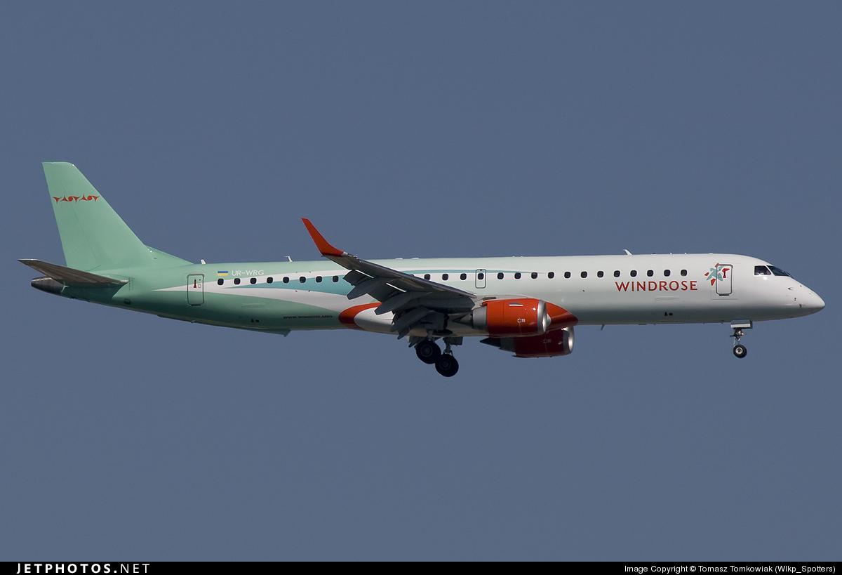 UR-WRG - Embraer 190-200LR - Wind Rose Aviation
