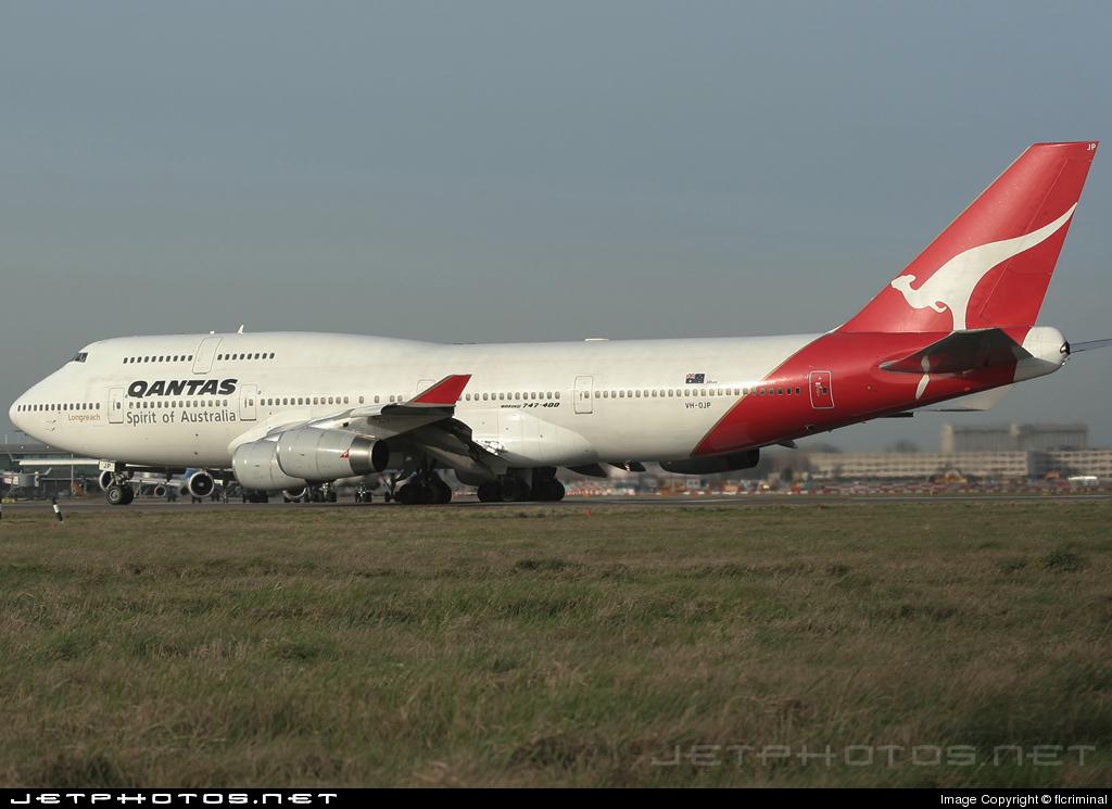 VH-OJP - Boeing 747-438 - Qantas