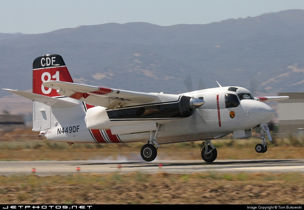 N449DF - Grumman S-2F3AT Turbo Tracker - United States - California Department of Forestry