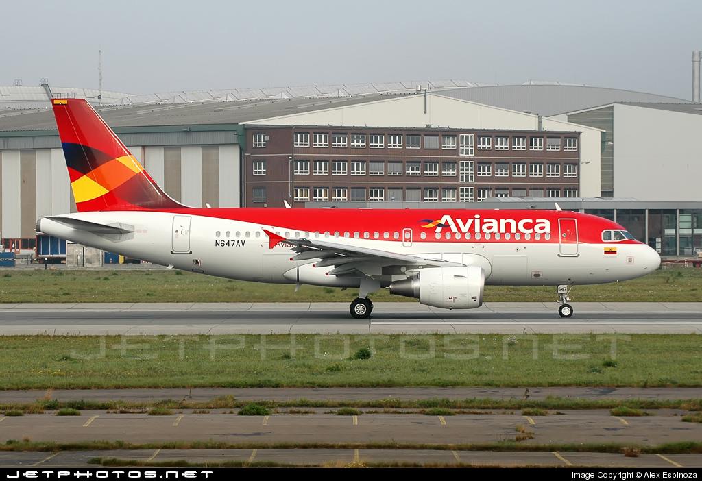 N647AV - Airbus A319-115 - Avianca