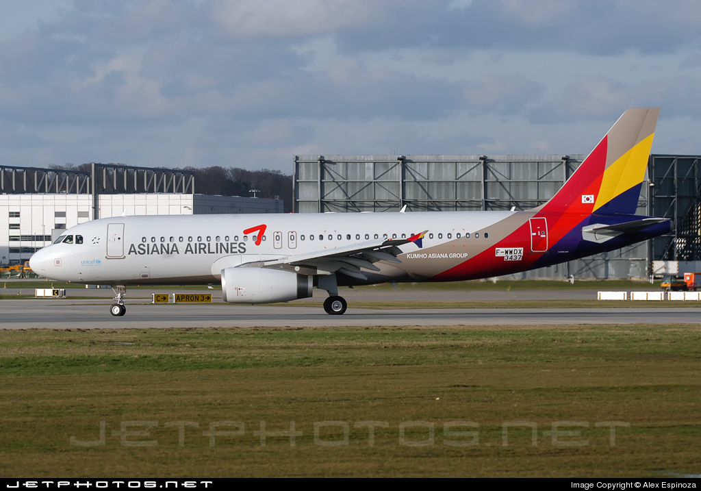 F-WWDX - Airbus A320-232 - Asiana Airlines