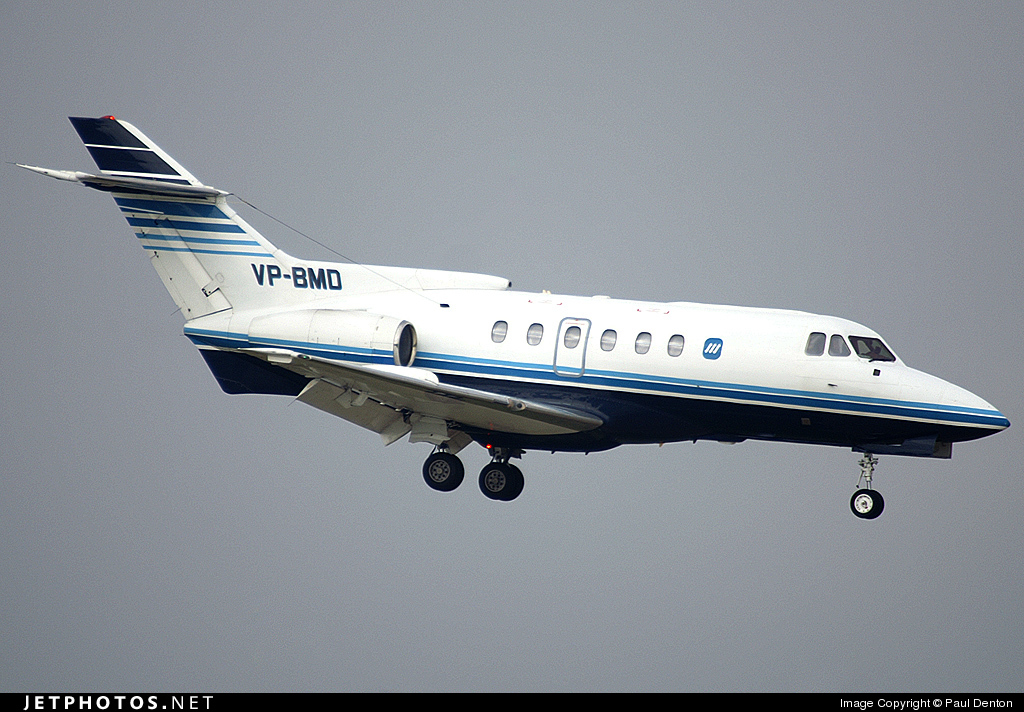 VP-BMD - Hawker Siddeley HS-125-700B - Polet Flight