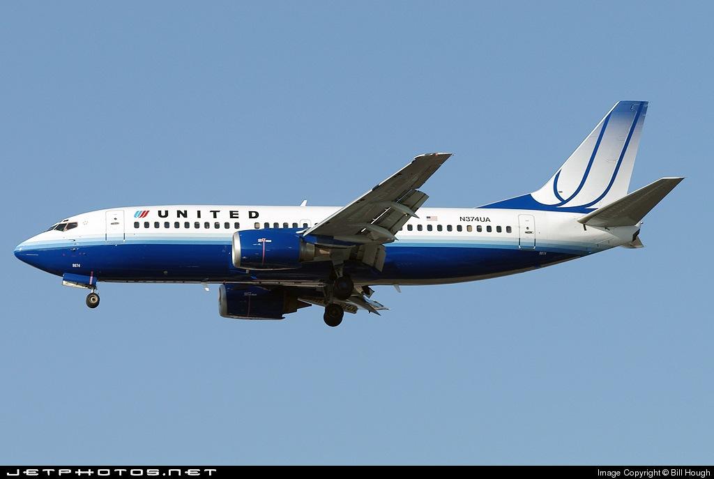 N374UA - Boeing 737-322 - United Airlines