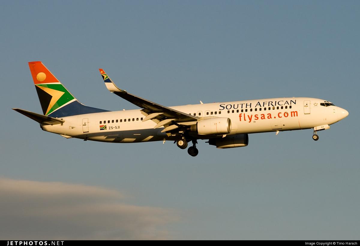 ZS-SJI - Boeing 737-85F - South African Airways