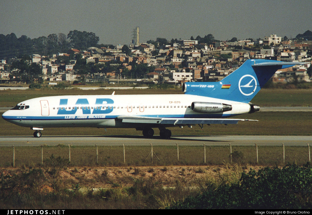 CP-1070 - Boeing 727-171C - Lloyd Aéreo Boliviano (LAB)