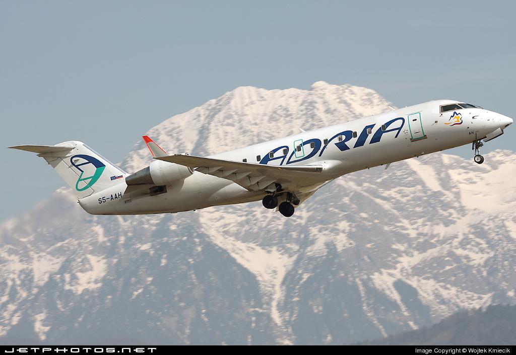 S5-AAH - Bombardier CRJ-100LR - Adria Airways