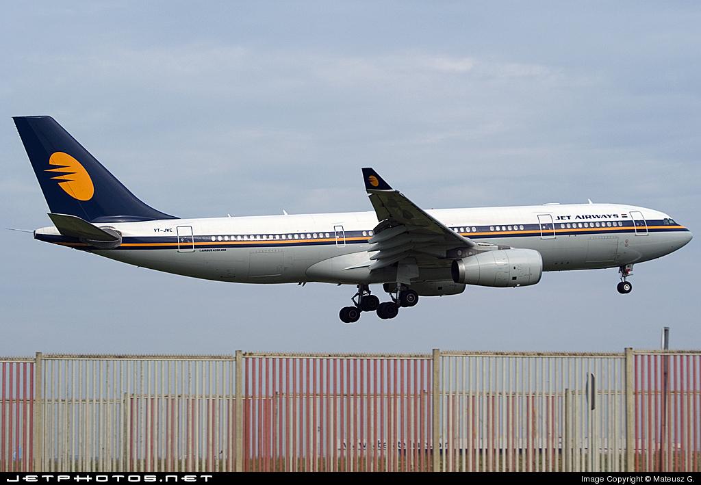 VT-JWE - Airbus A330-243 - Jet Airways
