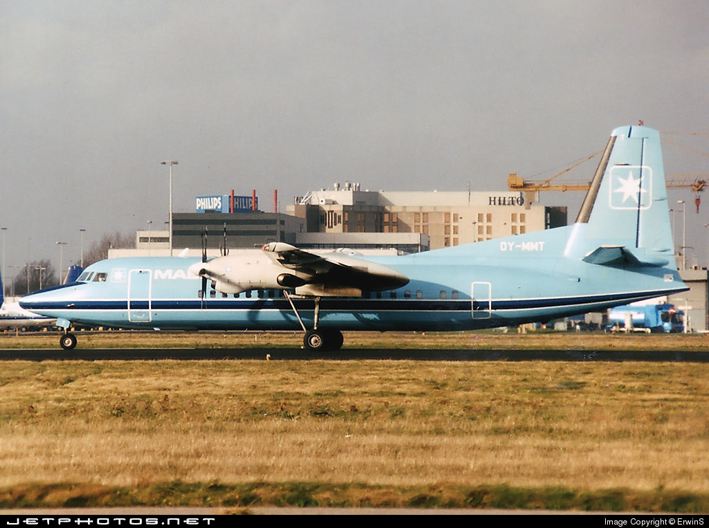 OY-MMT - Fokker 50 - Maersk Air