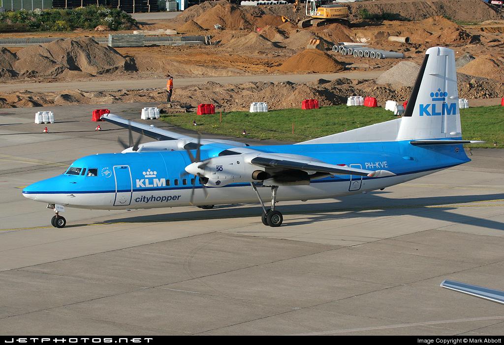 PH-KVE - Fokker 50 - KLM Cityhopper