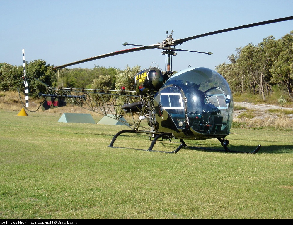 VH-LEP - Bell 47 - Heli West