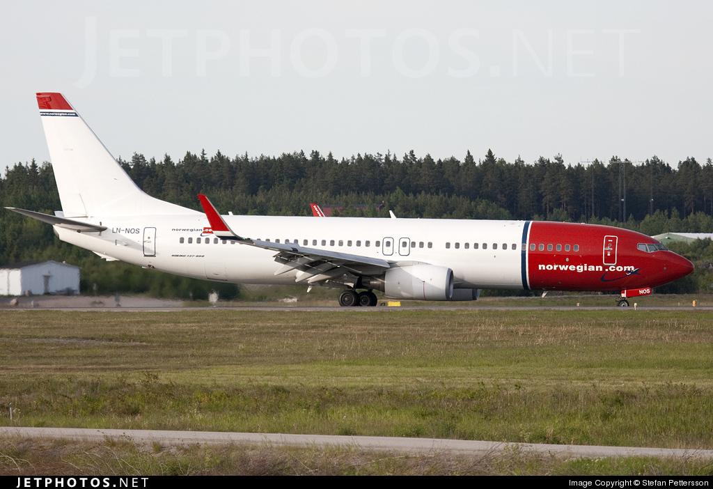LN-NOS - Boeing 737-8BK - Norwegian