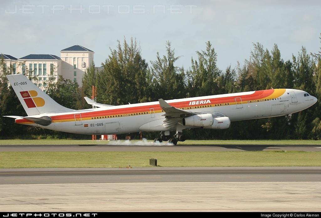 EC-GGS - Airbus A340-313 - Iberia