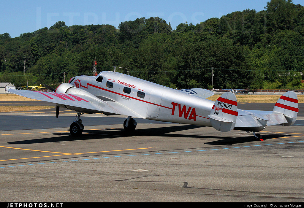 NC18137 - Lockheed 12A Electra - Trans World Airlines (TWA)