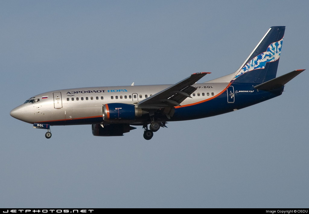VP-BQL - Boeing 737-5Y0 - Aeroflot-Nord