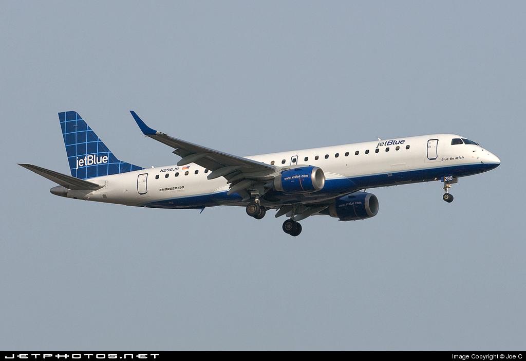 N290JB - Embraer 190-100IGW - jetBlue Airways