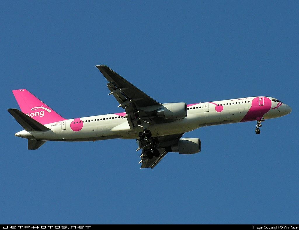 N610DL - Boeing 757-232 - Song
