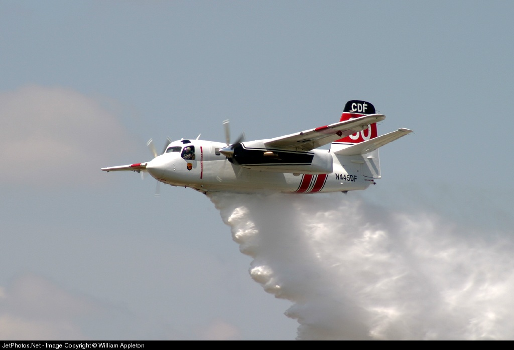 N445DF - Grumman S-2F3AT Turbo Tracker - United States - California Department of Forestry