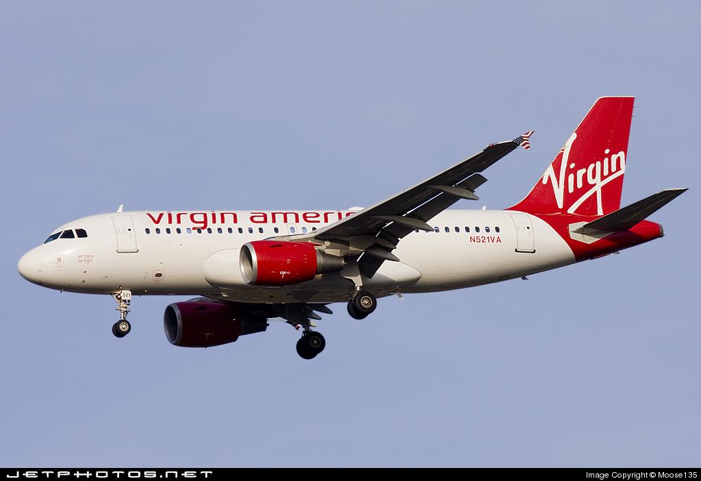 N521VA - Airbus A319-112 - Virgin America