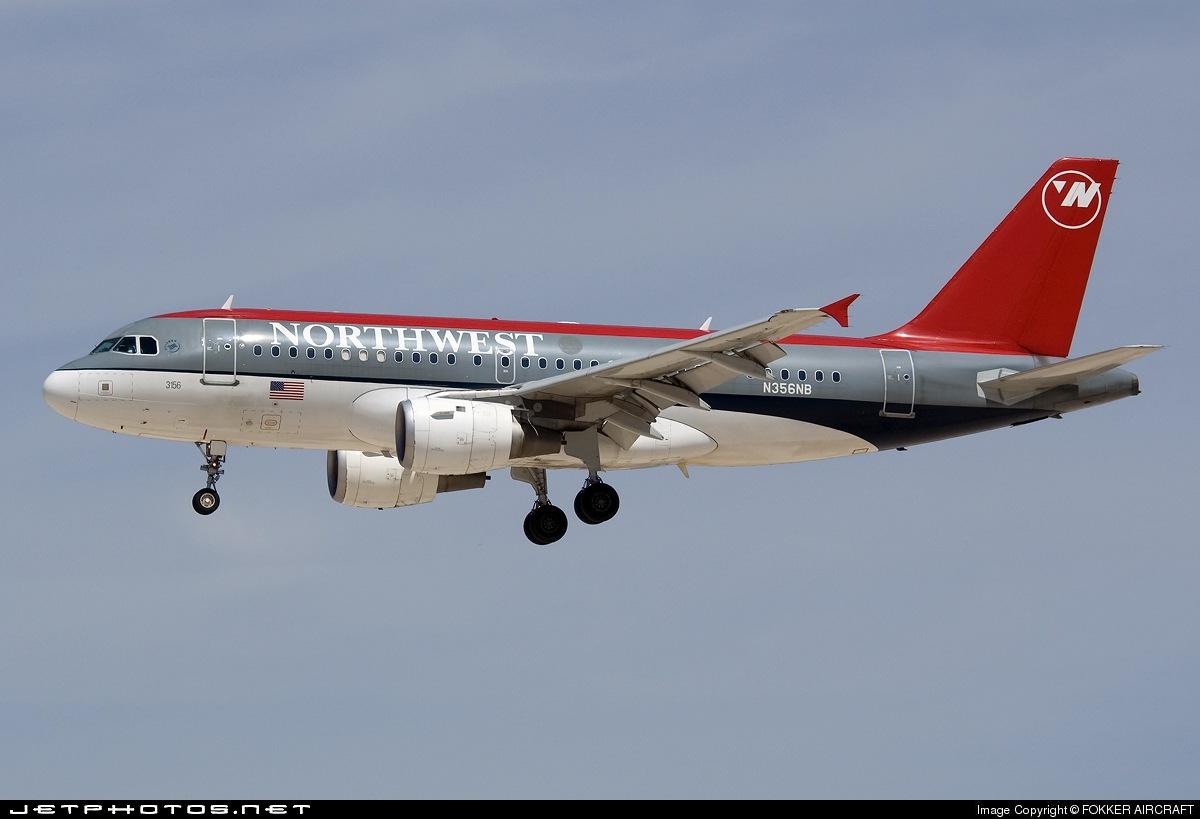 N356NB - Airbus A319-114 - Northwest Airlines