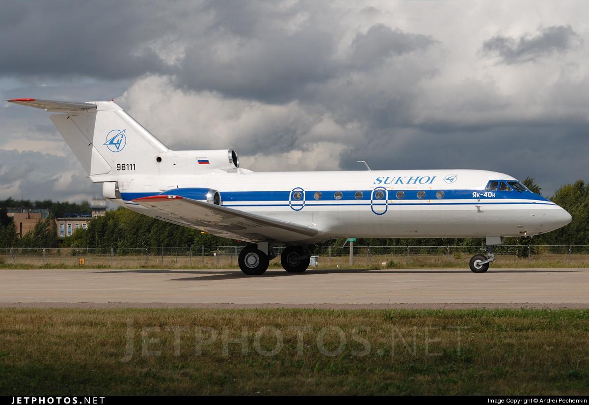 ra 98111 yakovlev yak 40 sukhoi design bureau andrei pechenkin jetphotos. Black Bedroom Furniture Sets. Home Design Ideas