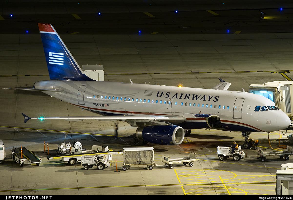 N812AW - Airbus A319-132 - US Airways