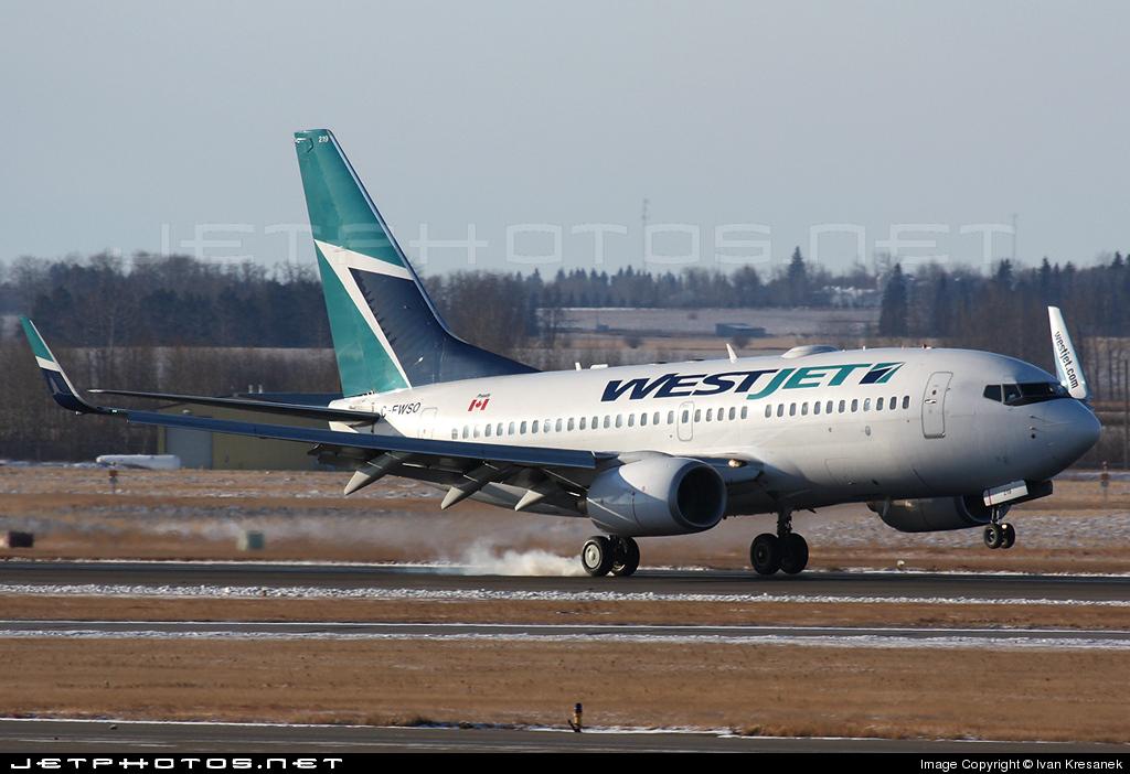 C-FWSO - Boeing 737-7CT - WestJet Airlines