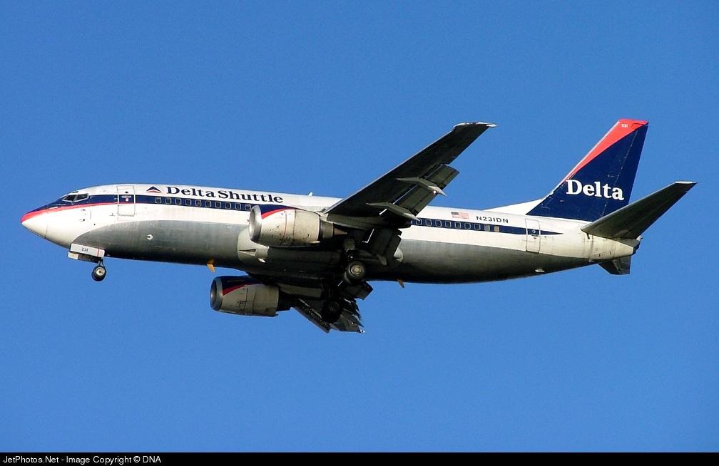 N230DN - Boeing 737-3L9 - Delta Shuttle