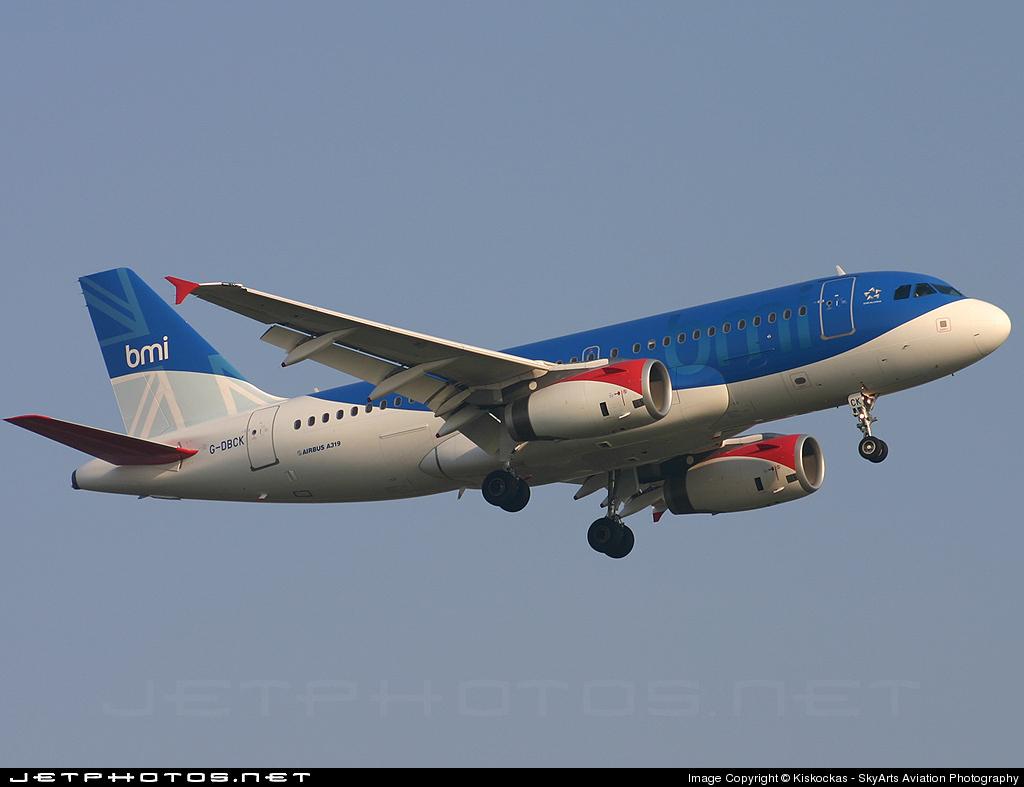 G-DBCK - Airbus A319-131 - bmi British Midland International