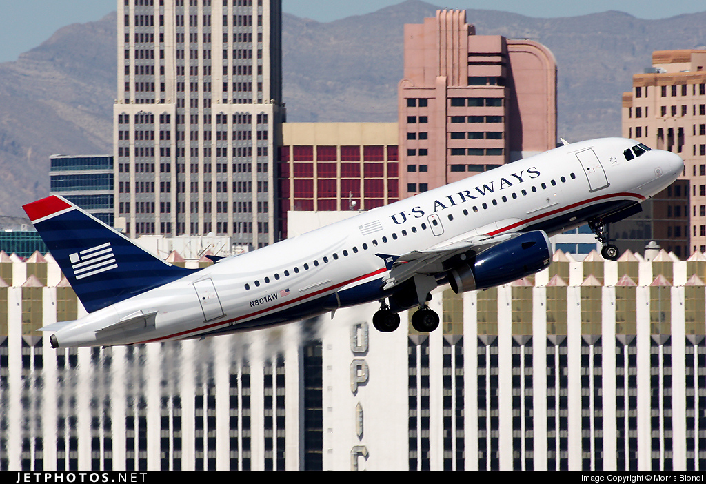 N801AW - Airbus A319-132 - US Airways