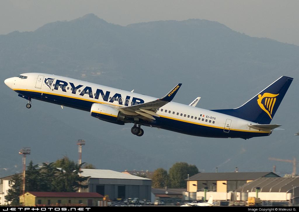 EI-DYG - Boeing 737-8AS - Ryanair