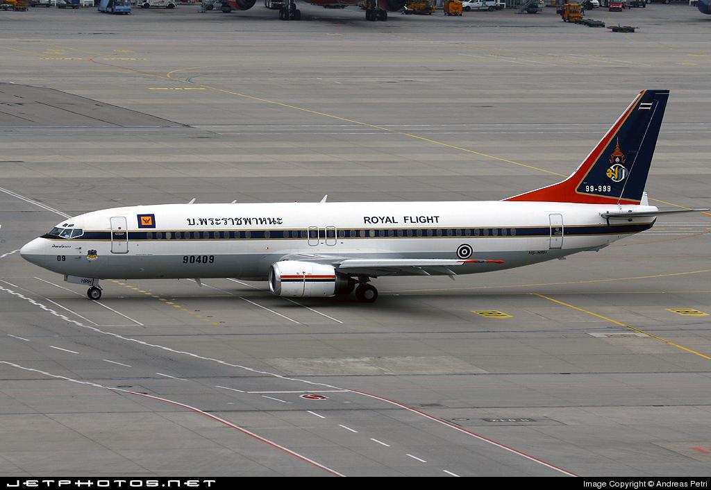 HS-HRH - Boeing 737-448 - Thailand - Royal Thai Air Force