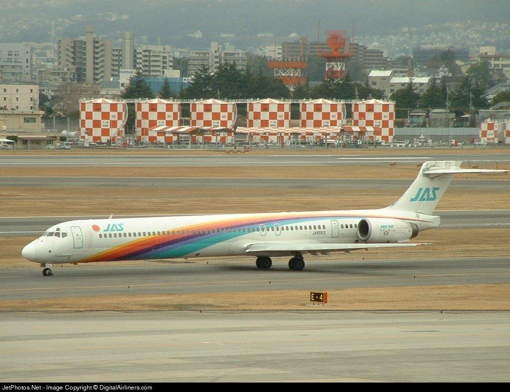 JA8063 - McDonnell Douglas MD-90-30 - Japan Air System (JAS)